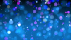 Abstract lights dots bokeh background. Stock Footage