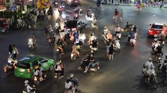 View of traffic in Hanoi Hoan Kiem district (old quarter) in Hanoi, Vietnam. Stock Footage