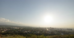 Sunset over Almaty. View from Kok-Tobe. Kazakhstan Stock Footage