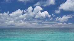 Nice UHD morning shot of the tropical seascape Stock Footage
