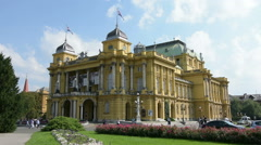 The Croatian National Theater Stock Footage