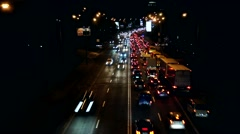 Time Lapse Cars Going Fast on the Streets. Lights Brighten the City at Night, Stock Footage