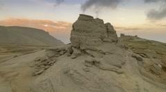 The Sphinx of Bucegi, at sunset Stock Footage