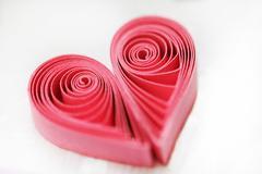 Quilling handmade heart Stock Photos