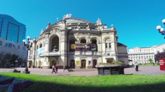 The Opera House in Kiev Stock Footage