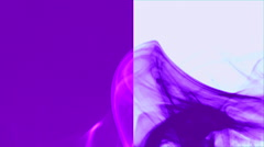 Wave of purple smoke on purple and white vertical splited background 5 Stock Footage