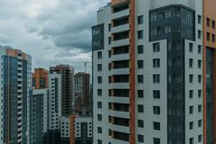 Multi-storey residential buildings Stock Photos