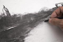 Charcoal art drawing Stock Photos