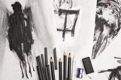 The Charcoal arts Stock Photos