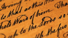 Close up of old letter Stock Footage