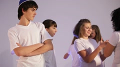 Outsider Teens dancing to the music Stock Footage