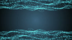 Vector blue waves with light showing through Stock Footage