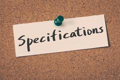 Specifications Stock Illustration