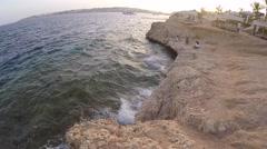 Egypt coast.Beautiful sunset on the beach Stock Footage