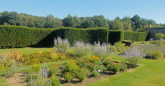 View of a formal English garden Stock Footage