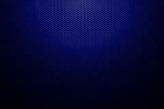 Spotlight on blue metallic mesh background. Stock Illustration