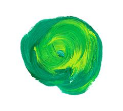 Green vector watercolor paint stain Stock Illustration