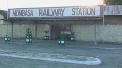 Mombasa railway station. Stock Footage