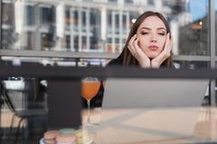 Girl relaxing on a fresh air Stock Photos