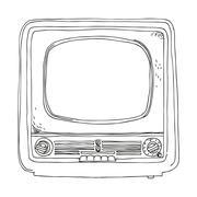 TV Set - Retro Clipart Illustration Stock Illustration
