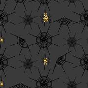 Halloween spider net vector pattern Stock Illustration