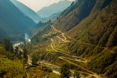 Chopta Valley in North Sikkim, India Stock Photos