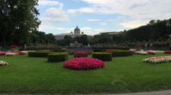 Volksgarten (People's Garden) in Vienna, Austria. Stock Footage