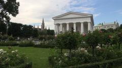 Theseus Temple in the Volksgarten (People's Garden) in Vienna Stock Footage
