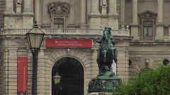 Heldenplatz (Heroes Square) and the Austrian National Library in Vienna Stock Footage