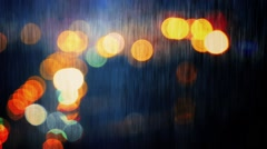Rainy City Landscape Abstract Stock Footage