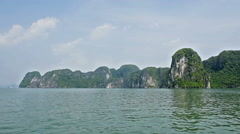 Ha Long Bay (Descending Dragon Bay), Vietnam, UNESCO World Heritage Site,  Stock Footage