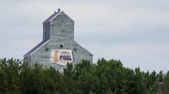 Alberta grain elevator Stock Footage