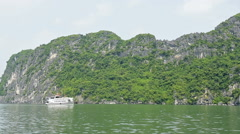 Ha Long Bay (Descending Dragon Bay), Vietnam, UNESCO World Heritage Site,  Stock Footage