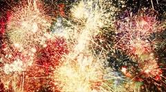 Endless Fireworks Explosions Loop Stock Footage