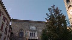 Bergamo civic tower Stock Footage