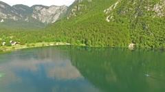 Beautiful view of Bohinj Lake, Slovenia Stock Footage