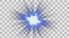 Retard Flare with Colorful Particles Stock Footage