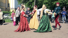 Dance of the Ancient Celts. Outdoor Demonstration Stock Footage