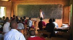 Children learning in a classroom in Africa. Stock Footage