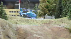 Private helicopter at the heliport Stock Footage