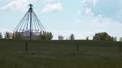 Agricultural storage facility Stock Footage
