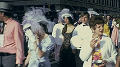 Edmonton 1975: people walking in the street during Klondike days (today K-days) Arkistovideo
