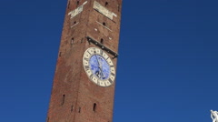 The main square of the Vicenza, Italy Stock Footage