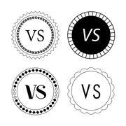 Versus sign for battle concept Stock Illustration