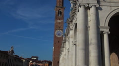 Main square of the Vicenza , Italy Stock Footage