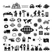 Traveler explorer icon Stock Illustration