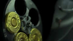 Close Up Loading 357 Magnum Ammo Into A Revolver Stock Footage