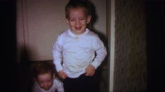 1972: childrens are playing in a room LYNBROOK, NEW YORK Stock Footage