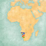 Map of Africa - Namibia Stock Illustration