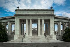 The Arlington Memorial Amphitheater at Arlington National Cemetery, in Arling Stock Photos